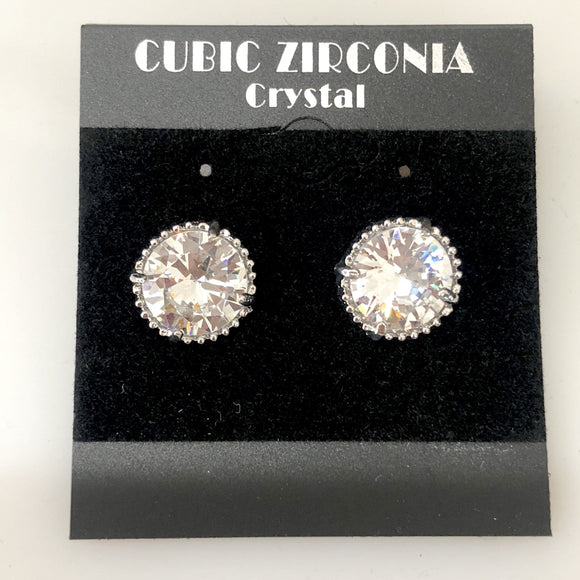 BOUTIQUE Clear Cubic Zirconia Stud Earrings NWT