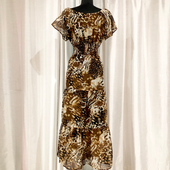 BOUTIQUE Leopard Print Maxi Dress Size 1X