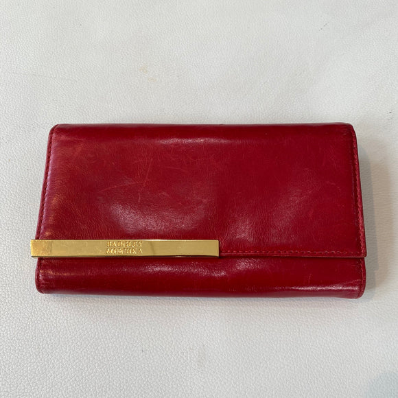 BADGLEY MISCHKA Red Leather Wallet