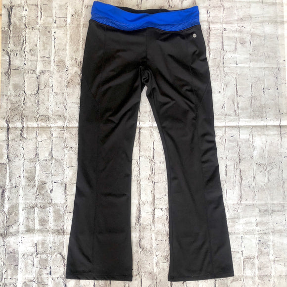 BOUTIQUE Black & Blue Bootcut Workout Pants Size L