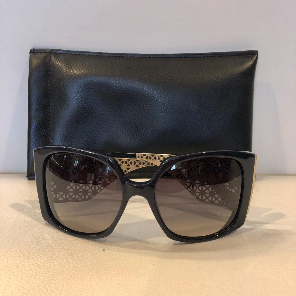 ALEXANDER MCQUEEN CAGED SIDES SUNGLASSES