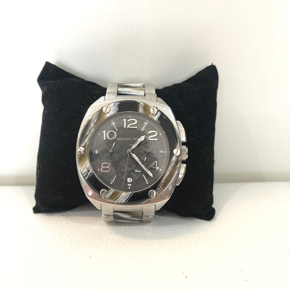 MICHAEL KORS Silver & Zebra Chronograph Women's Tribeca Watch