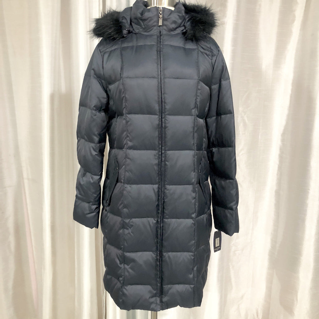 NAUTICA Navy Down Feather Puffer Jacket Size L NWT