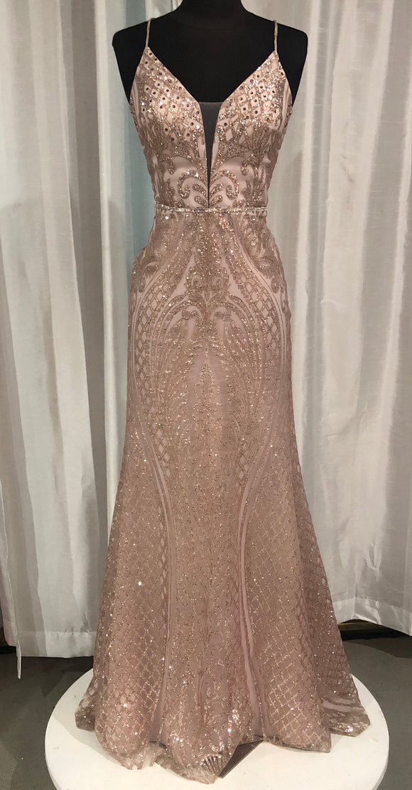 BOUTIQUE Long Blush Glitter Size S