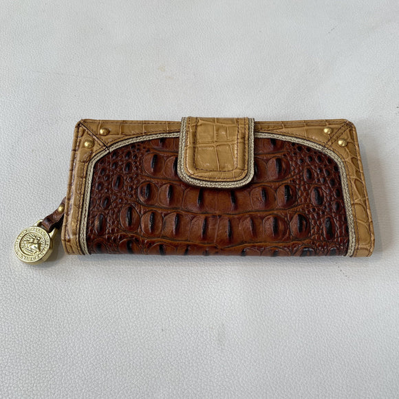BRAHMIN Brown & Tan Leather Wallet