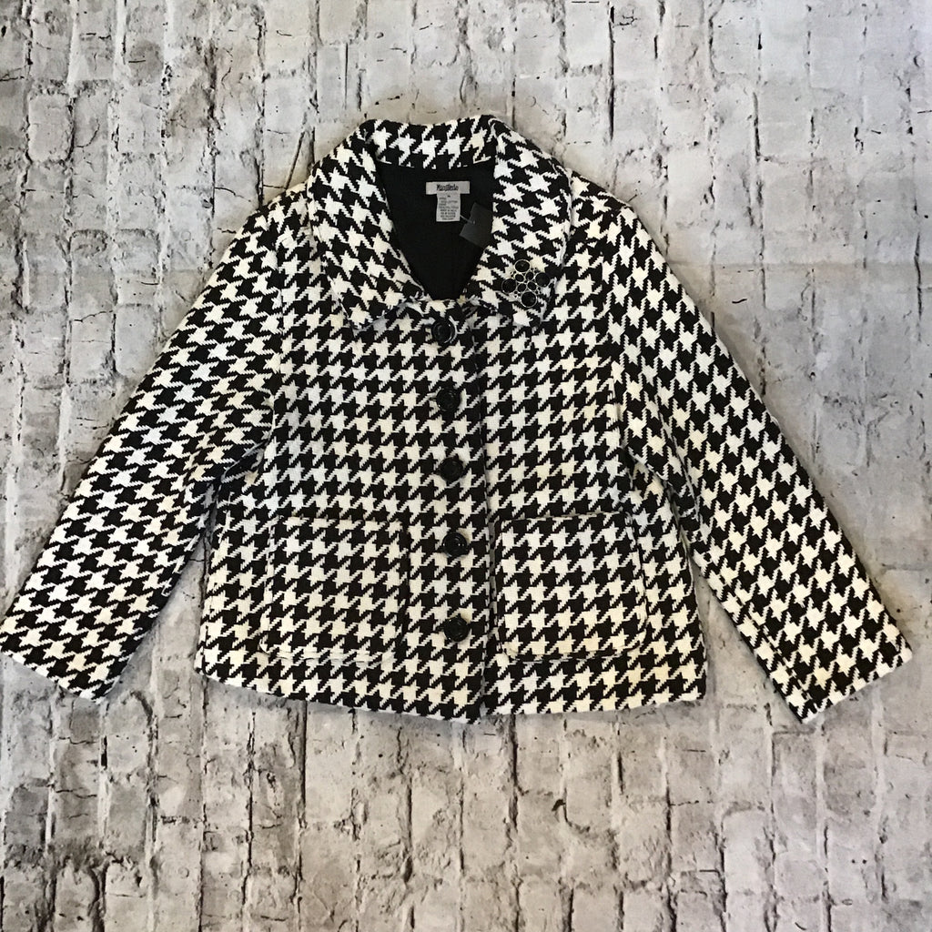 BOUTIQUE Black & White Houndstooth Jacket Size M