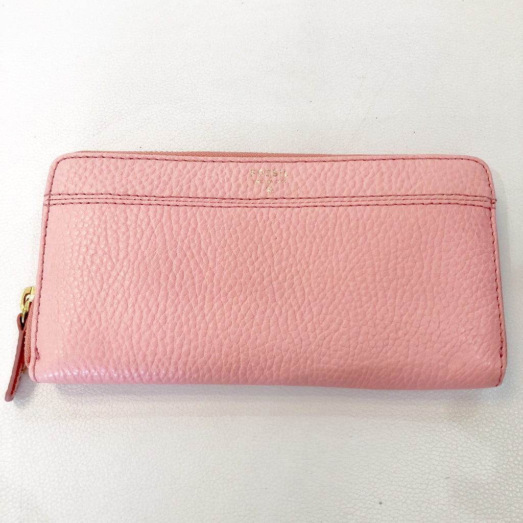 FOSSIL Pink Zip Around Wallet