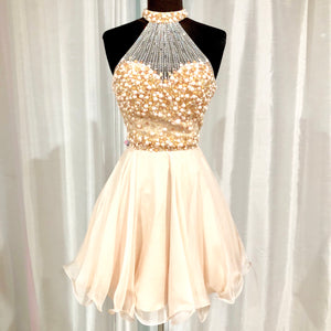 BLUSH PROM Short Blush Pink Two Piece Size 6