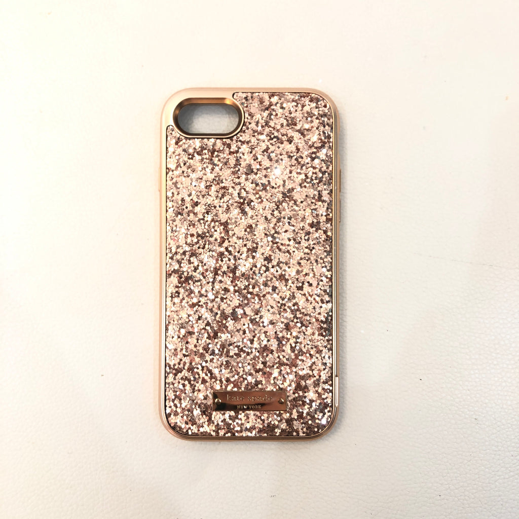 KATE SPADE Rose Gold Glitter iPhone 6, 7, & 8 Case