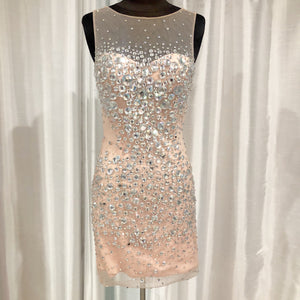 JOVANI Short Blush Form Fitting Gown Size 6