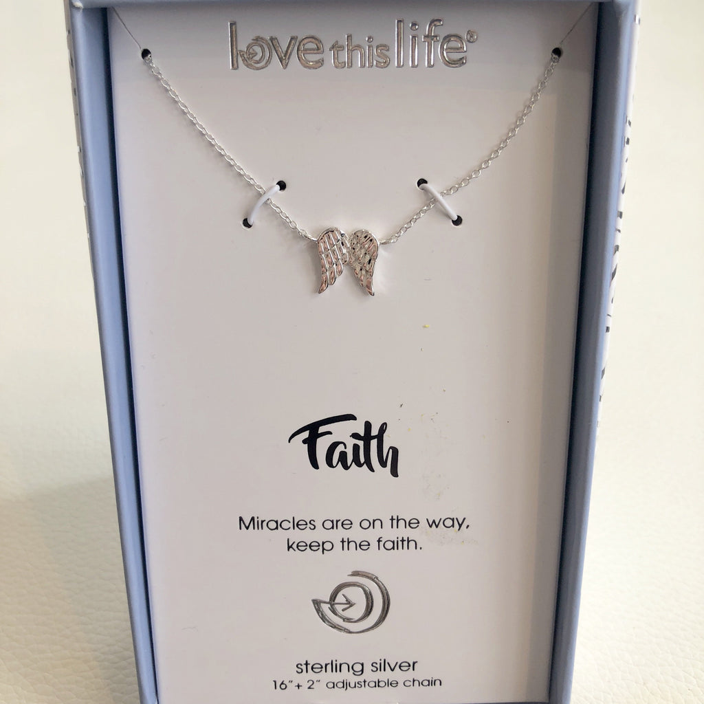 "BOUTIQUE ""Faith"" Sterling Silver Necklace"