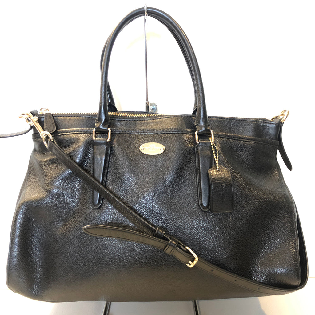 COACH Pebble Leather Morgan Satchel