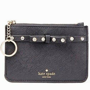 KATE SPADE Bitsy Laurel Way Jeweled Small Wallet Key/Coin/Card Case
