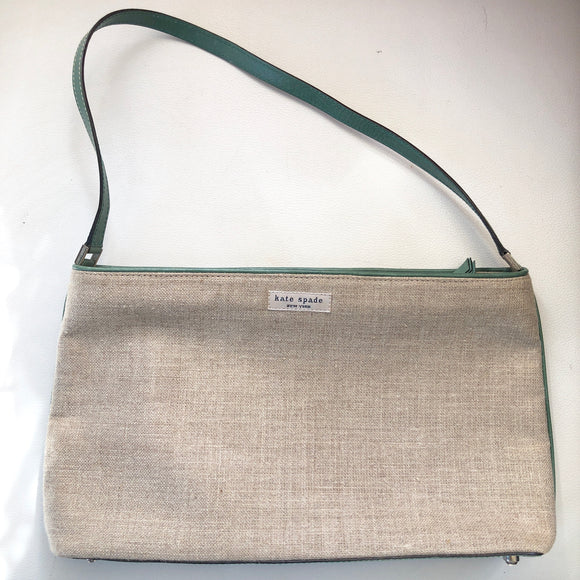 KATE SPADE Linen Shoulder Bag