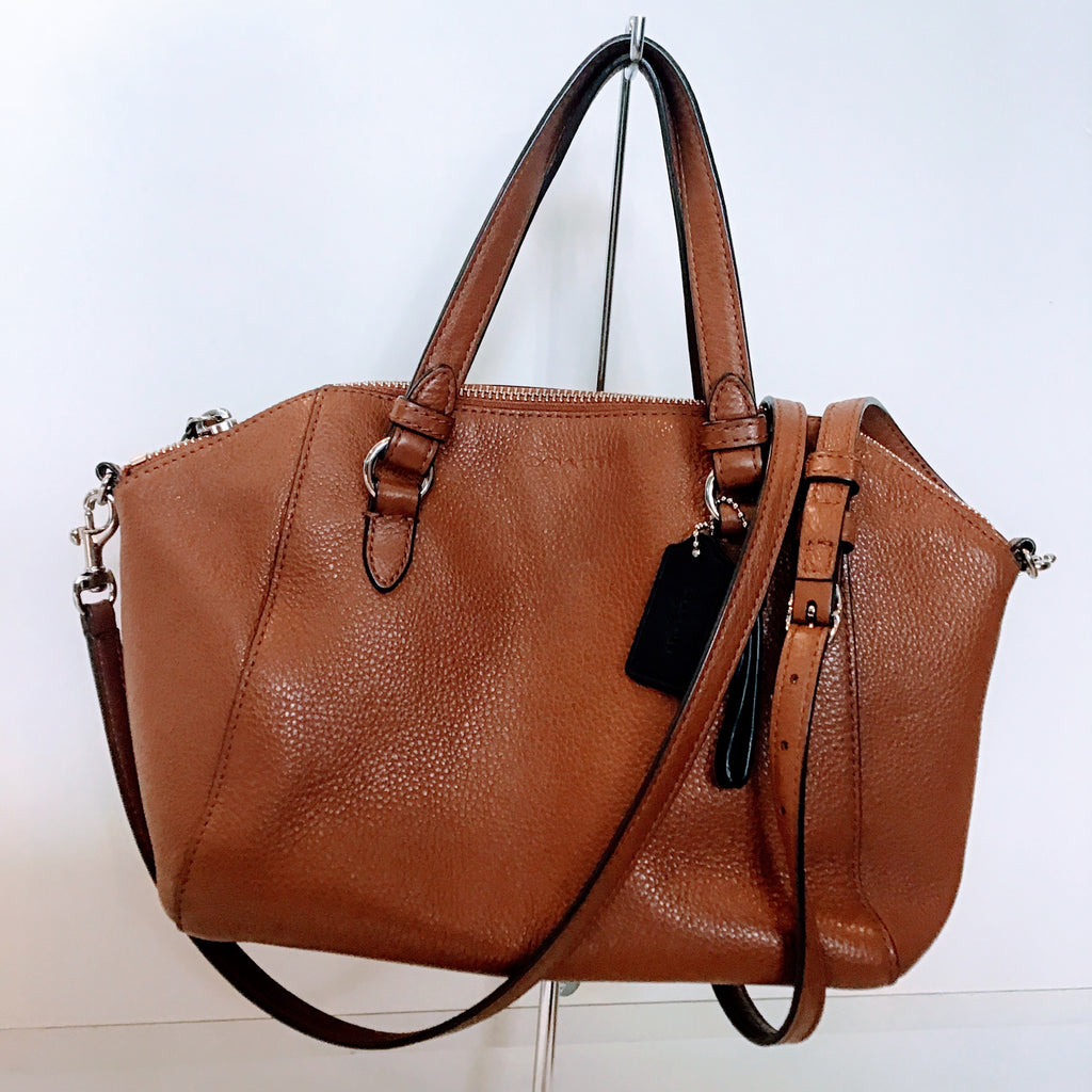 COACH CAMEL PARK LEATHER MINI SATCHEL