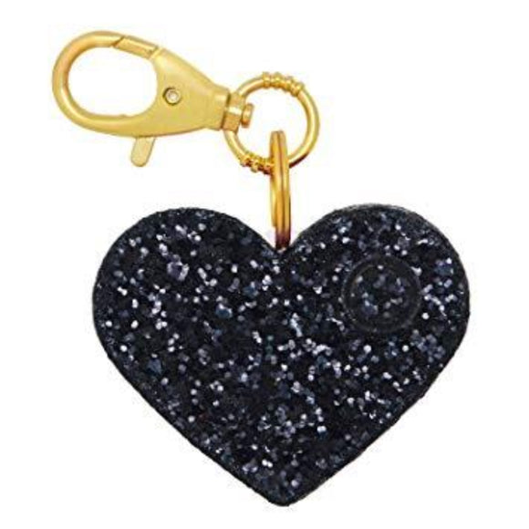 BLINGSTING Black Glitter Heart Ahh-Larm NIB