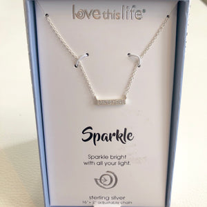 "BOUTIQUE ""Sparkle"" Sterling Silver Necklace"