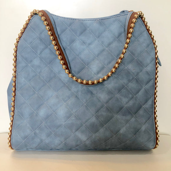 BIG BUDDHA Blue Studded Handbag NWOT