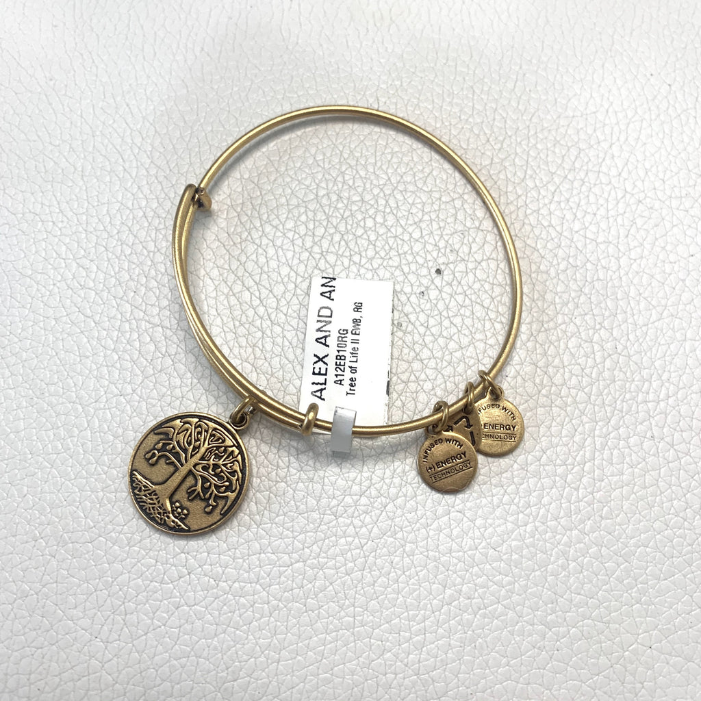 "ALEX AND ANI Gold ""Tree of Life"" Charm Bracelet"