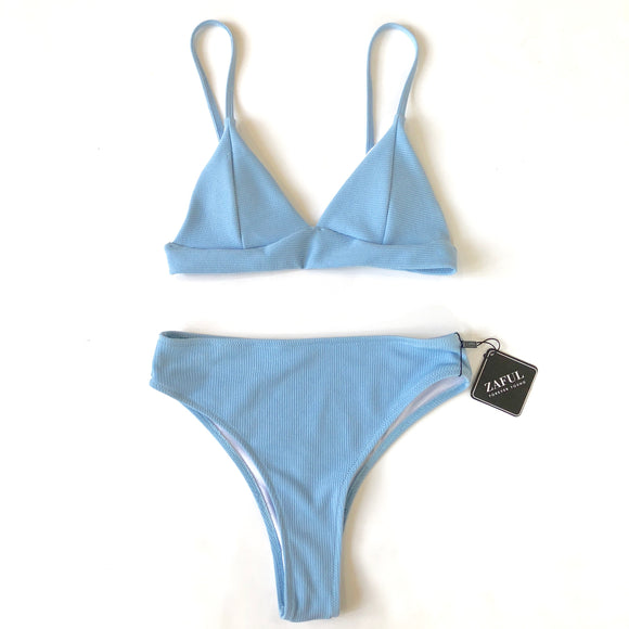 ZAFUL Baby Blue Triangle Swimsuit Size Small