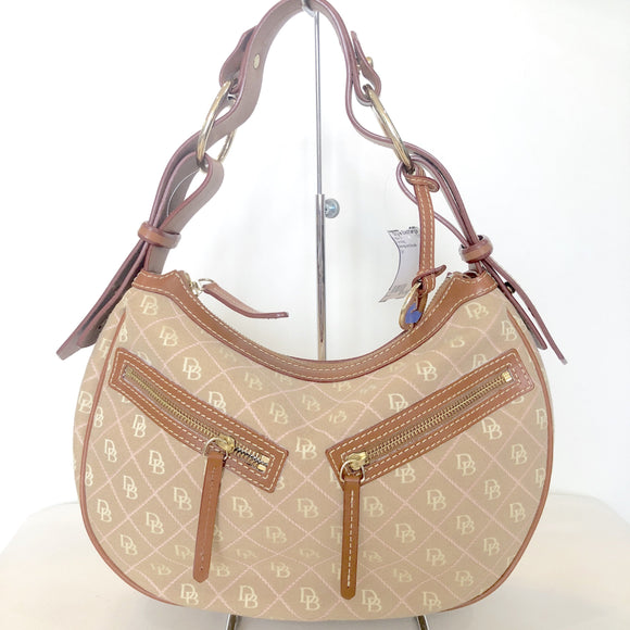 DOONEY & BOURKE Tan Signature Logo Shoulder Bag