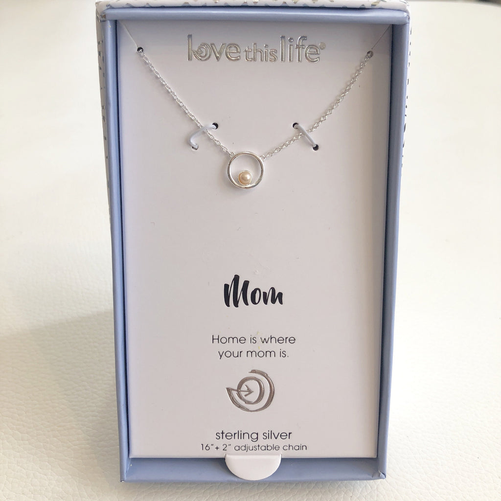 "BOUTIQUE ""Mom"" Sterling Silver Necklace"