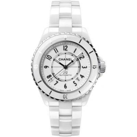 CHANEL White Ceramic Watch