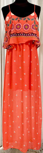 BOUTIQUE Coral Maxi Dress Size S