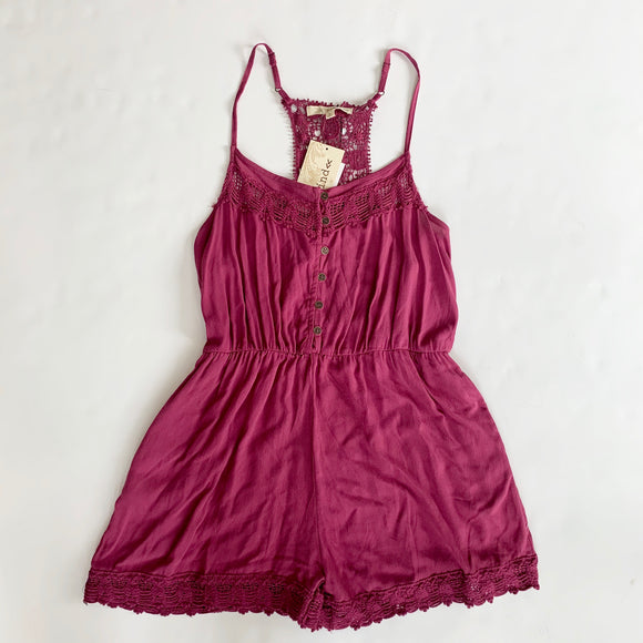BOUTIQUE Plum Romper Size L