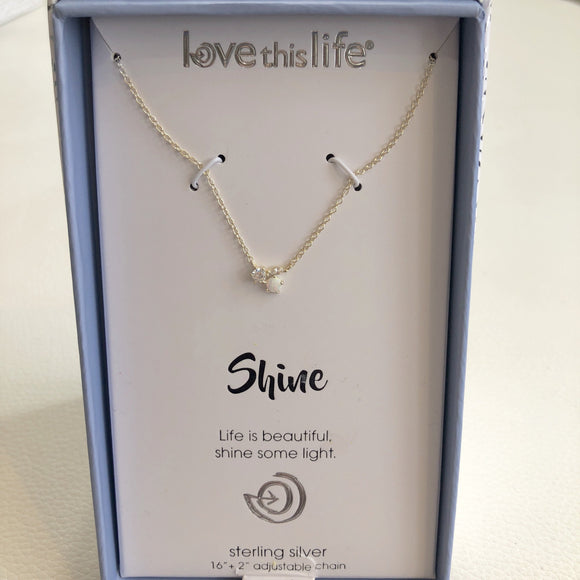 "BOUTIQUE ""Shine"" Sterling Silver Necklace"