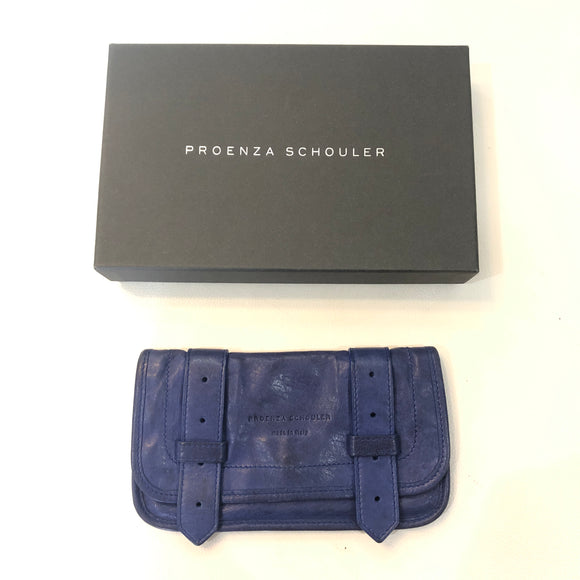 PROENZA SCHOULER PS1 Blue Leather Wallet