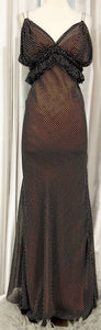 VERA WANG Vintage Polka Dot Long Dress Size 8