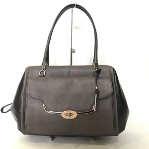 COACH Madison Saffiano Leather Madeline Quartz & Black Satchel