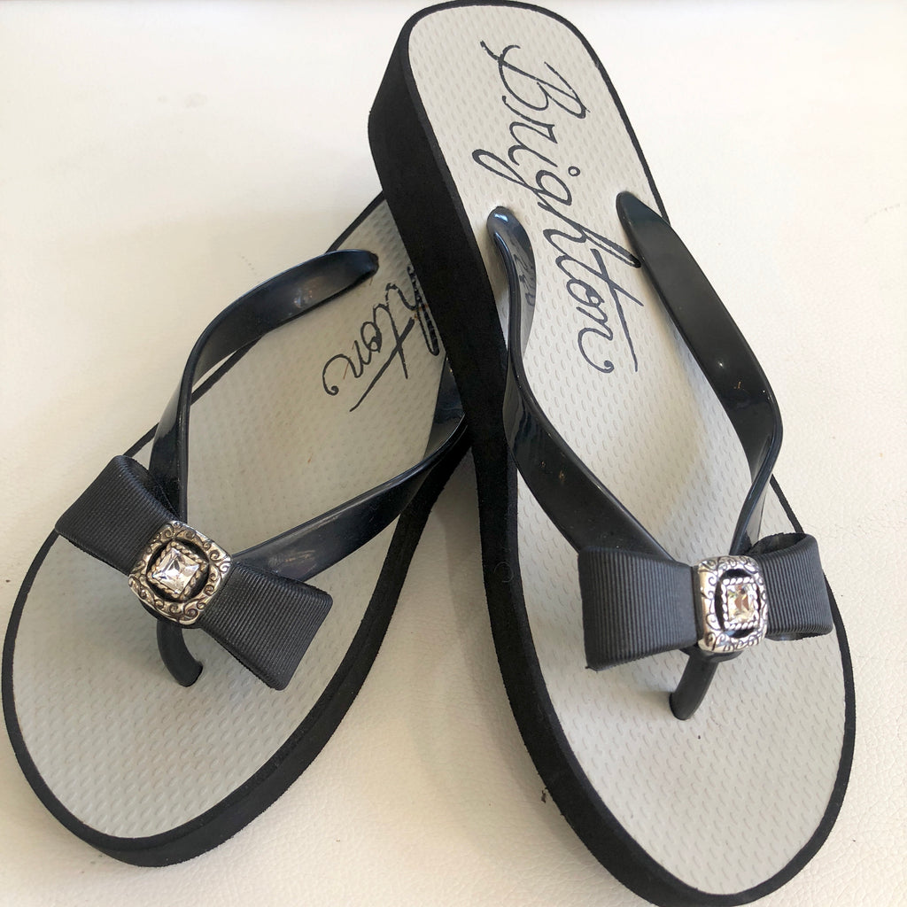 BRIGHTON Bowie Wedge Flip Flops