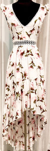 BOUTIQUE Floral Print High-Low Summer Dress Size S