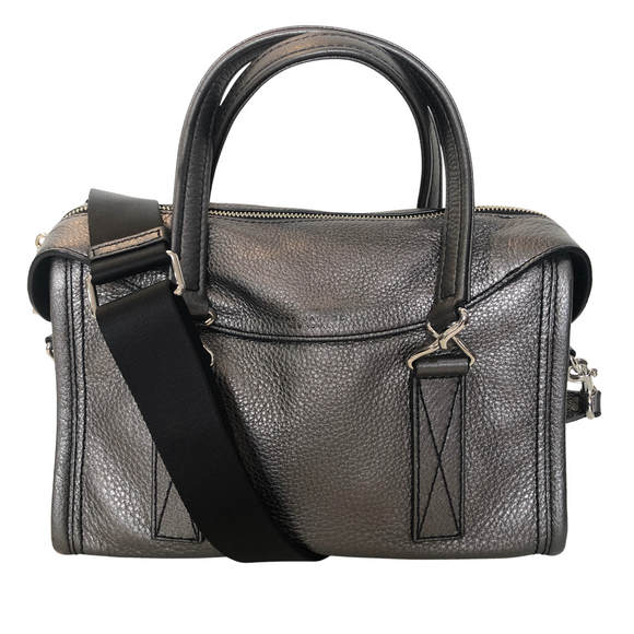 MARC JACOBS Silver Metallic Handbag/Crossbody