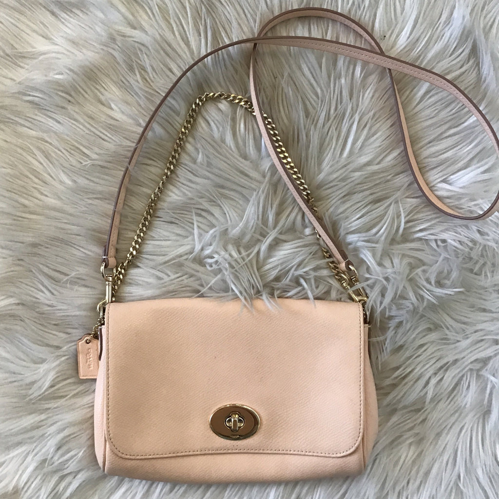 COACH APRICOT CROSSBODY/ SHOULDER BAG
