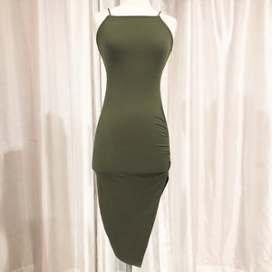 BOUTIQUE OD Green Short Form Fitting Dress Size S