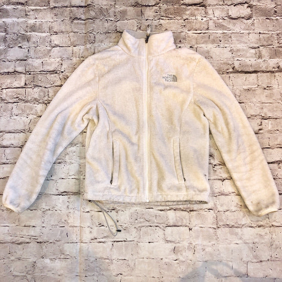 The North Face White Fleece Zip Up Size XS