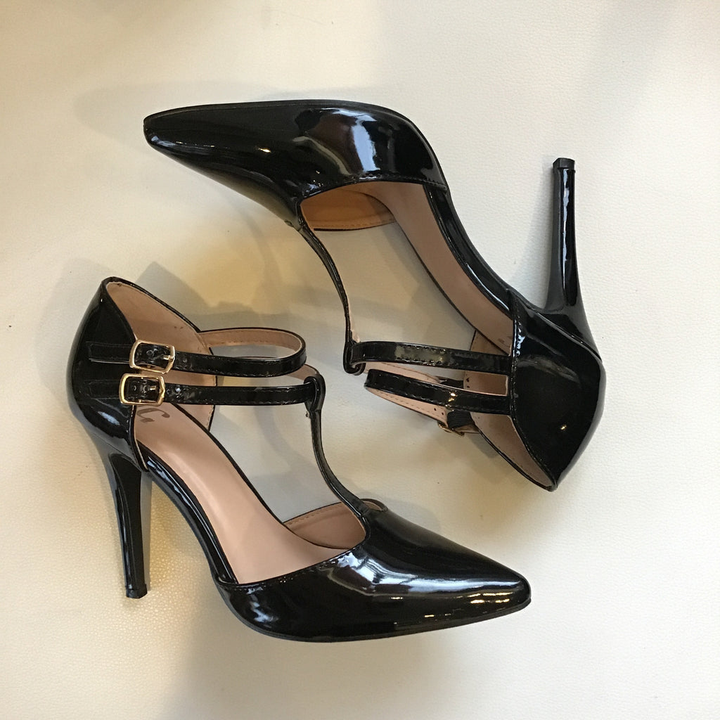 Boutique Patent Leather Pumps Size 8