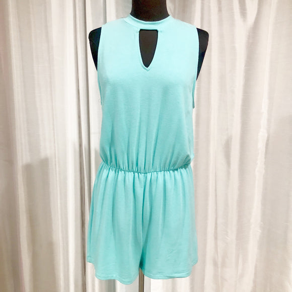 BOUTIQUE Turquoise Romper NWT Size M