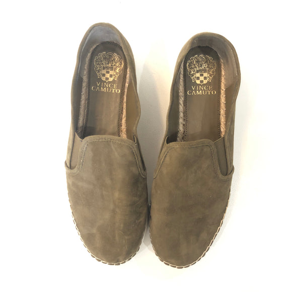VINCE CAMUTO Olive Green Tambie Slip On Sneaker Size 9