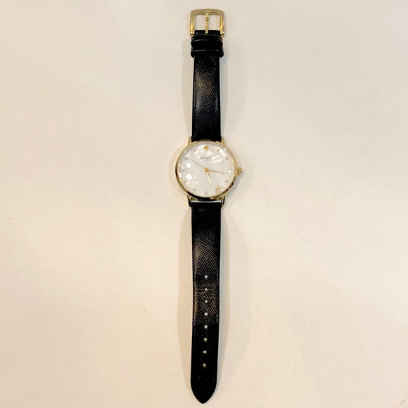 Kate Spade New York Metro Monogram Analog Display Japanese Quartz Black Watch