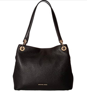 MICHAEL KORS RAVEN PEBBLED LEATHER TOTE