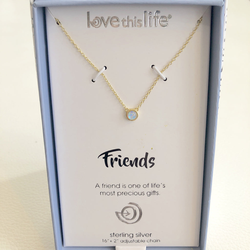 "BOUTIQUE ""Friends"" Sterling Silver Necklace"