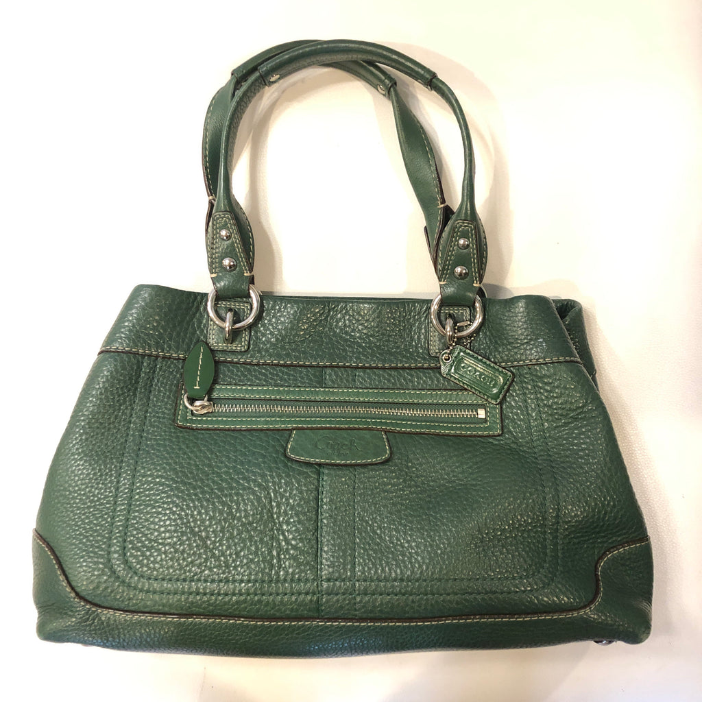 Coach Green Satchel