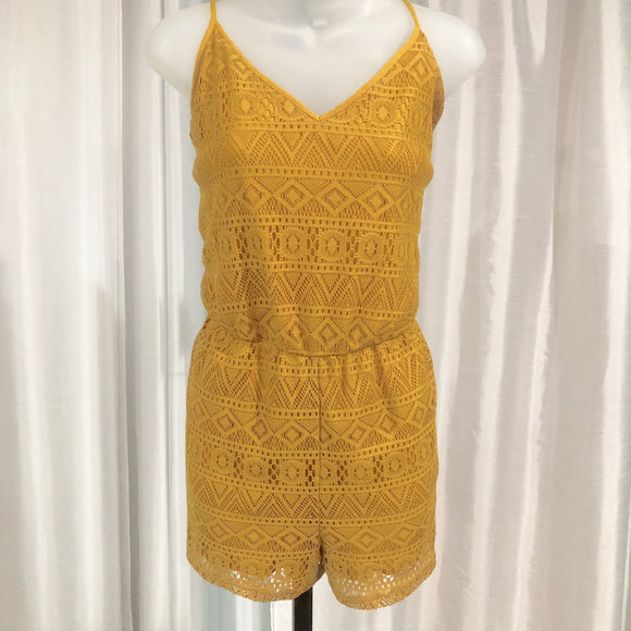 BOUTIQUE Mustard Yellow Romper Size L