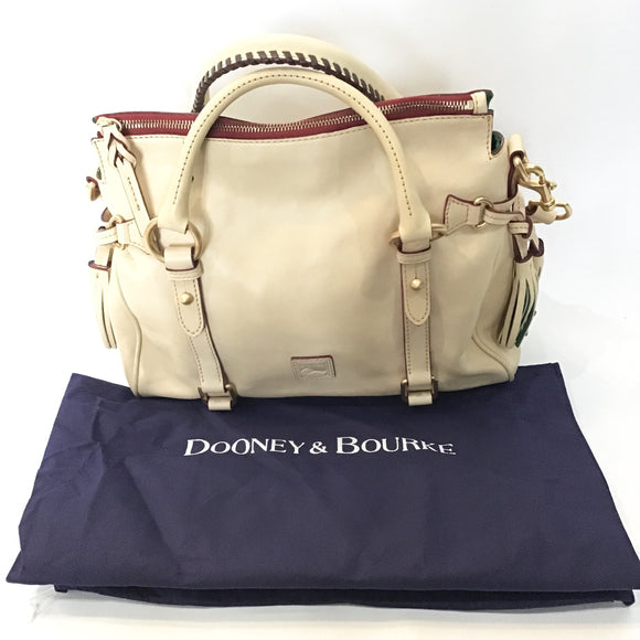 DOONEY & BOURKE Cream Florentine Micro Satchel