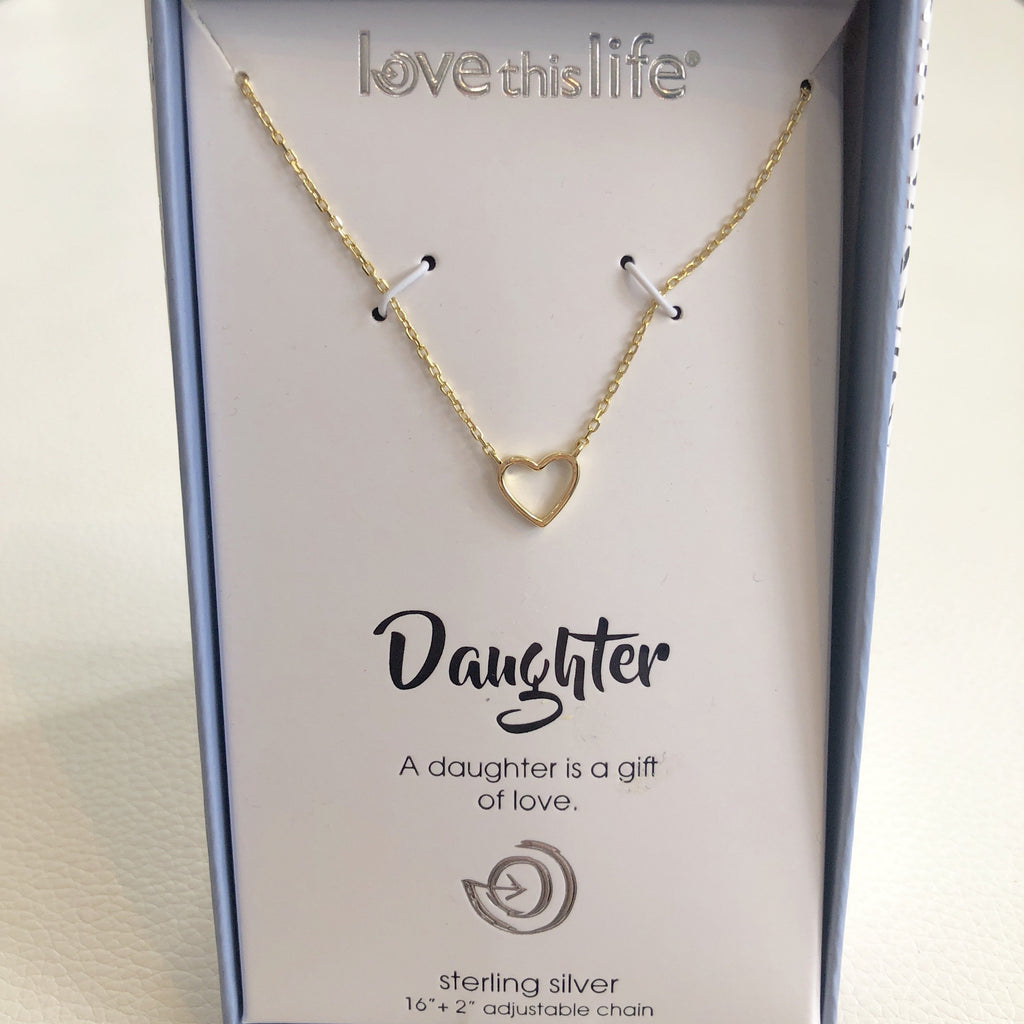 "BOUTIQUE ""Daughter"" Sterling Silver Necklace"