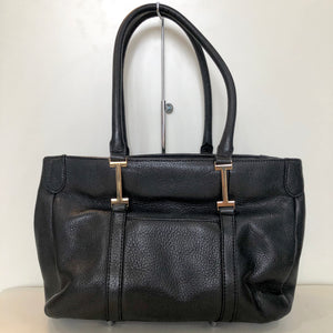 ISAAC MIZRAHI Black Leather Handbag